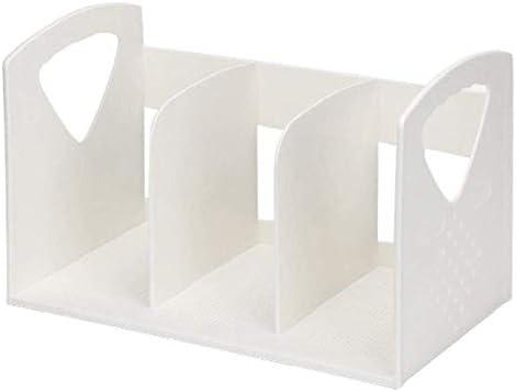 AGWa Zeitungsständer, Desk File Organizer, Multifunktions-Office-Aktenregal Mehrschichtiges vertikales Bücherregal Rack Abs Kunststoff-Lagerregal Akten-Aufbewahrungsbox Buchstütze