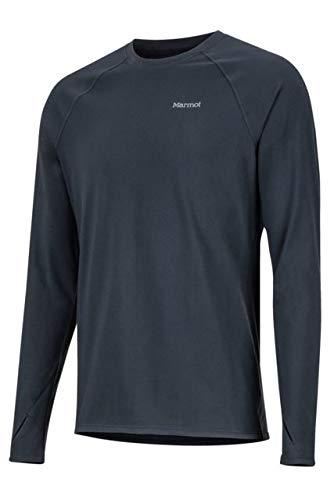 Marmot Long Sleeve Pullover - Marmot Men's Lightweight Kestrel Long Sleeve Crew Black Large