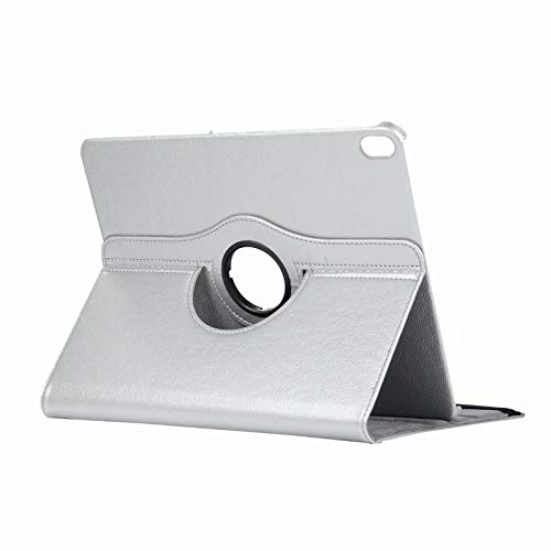Price comparison product image 11'' iPad Pro Protective Case,  Businda 360 Degree Rotating Lightweight PU Leather Magnetic Flip Folio Stand Smart Case with Smart Auto Sleep / Wake Protective Cover for iPad Pro 11 Inch 2018,  Silver