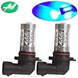 YINTATECH 2 X 9005 HB3 High Power 80W LED Bulb NEW 7000K Blue Fog Driving DRL Light Lamp