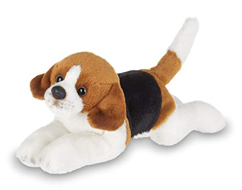 Bearington Lil' Hunter Small Plush Beagle Stuffed Animal Puppy Dog, 8 inches