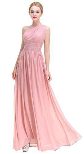 formal blush pink dress - 7