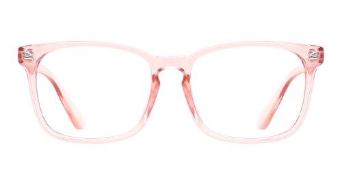 TIJN Unisex Wayfarer Non-prescription Glasses Frame Clear Lens Eyeglasses (A, Transparent)