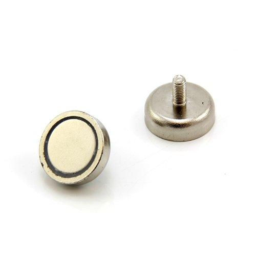 first4magnets F4MA25-1 Im/án de neodimio N42 25 mm de di/ámetro, 8 mm de grosor, orificio avellanado, fuerza de 20 kg