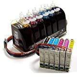 Continuous Ink System (CIS) for: Epson Artisan 50 Inkjet Printer0- T078120, T078220, T078320, T078420, T078520, T078620, Office Central
