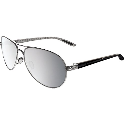 Oakley Womens Feedback Sunglasses, Polished Chrome/Chrome Iridium, One - Twenty Oakley Sunglasses
