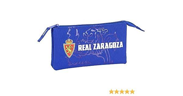 Real Zaragoza Oficial Estuche Escolar 220x30x100mm: Amazon.es: Oficina y papelería
