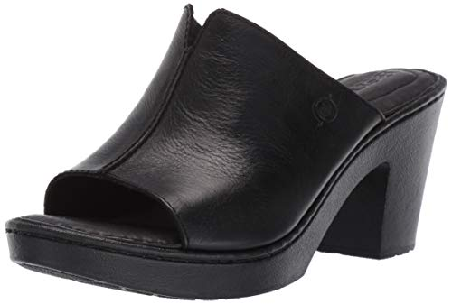 Born Wenaha Women's Sandals Black Full Grain Leather (7 M US)