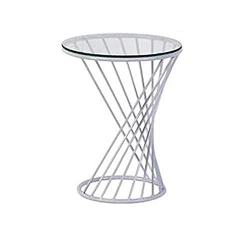 Amazon.com: Mesa redonda en espiral artística, mesa de café ...