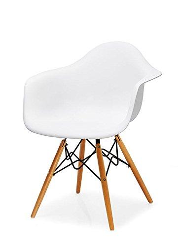 4x Stuhl modernes Design Küche Esstisch Wohnzimmer Beine in buche