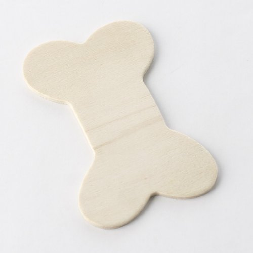 Package of 24 Unfinished Wood Dog Bone Cutouts for Painting and Crafting