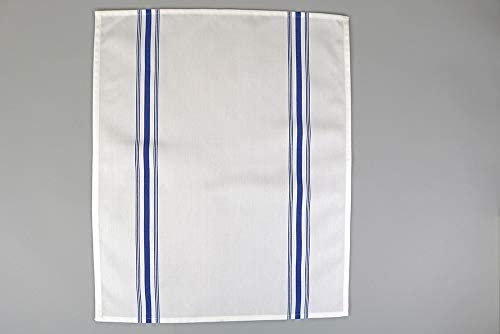 Royal Blue Stripes RC ROYAL CREST by Sigmatex-Lanier Textiles Cloth Dinner Bistro Napkins Restaurant Quality 18 x 22 Inches 12 Pack