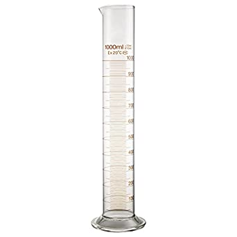 how to read a 25 ml graduated cylinder