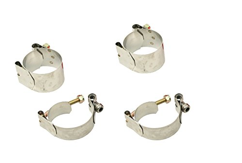 VW Bug Beetle Deluxe Sway Bar Clamps Only,Set Of 4 Link Pin Or Ball Joint 9692 ()