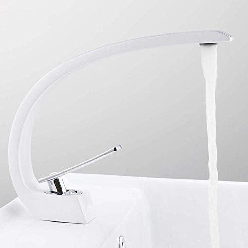 ゆば 浴室のための流域水栓現代浴室のミキサーのタップ真鍮洗面の蛇口シングルハンドル単穴は、エレガントクレーン