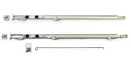 Carefree 961501WHT Fiesta White with Matching White Casting Universal Manual RV Awning Arms Set (68