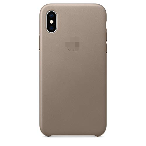 Sub-wood Luxury Genuine Leather Case for iPhone Xs Max Protective Phone Case for Phone Cover [6.5inch] (Taupe)