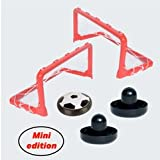 IgenToys Mini Hover Soccer Ball Set with 2 Goals, Hockey Pucks and rubbery-Indoor Fun Toy for Kids and Baby Boys/Girls-Children's Gifts-Sports air Power Training Ball for Football Game