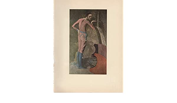 """1954 Color Art Plate /"""" The Actor  /"""" by Picasso offset Lithograph"""