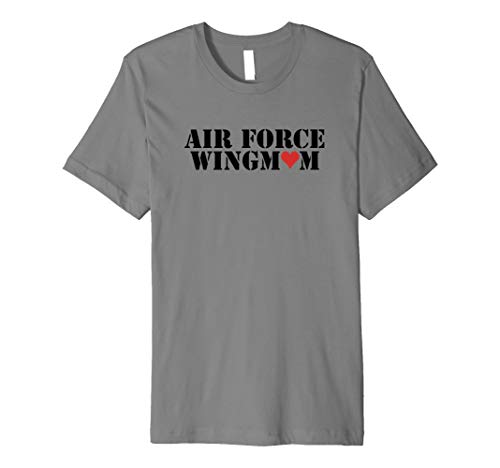 Proud Air Force Wing Mom Of An Airman T Shirt - 20246 (Air Force Wings T-shirt)
