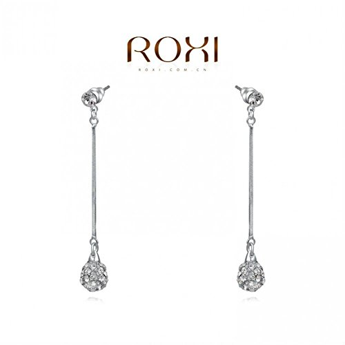 USMagic Fashion Jewelry Christmas Gift White Gold Plated Ball Drop Earrinfor Women Brincos Grandes Sales Party