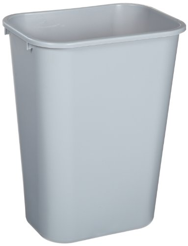 Soft Molded Plastic Wastebaskets (Rubbermaid Commercial Products FG295700GRAY Soft Molded-Plastic Wastebasket (Rectangular, 10.25-Gallon, Pack of 12, Gray))