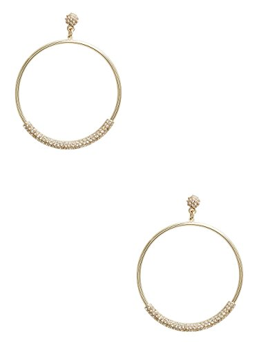 Guess Designer Earrings - GUESS Women's Gold-Tone Fireball Hoop Earrings
