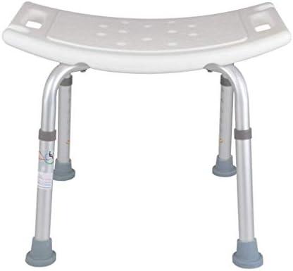 Dusche Badhocker Duschsitz Stuhl Gebogener Sitz Duschstuhl Verstellbar Heavy Duty (Max. 200kg)