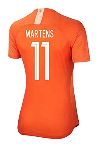 Holland Home Shirt - HUGAN Martens #11 2019-2020 Holland Women's Home Soccer Jersey Orange (S)