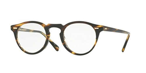 Oliver Peoples - Gregory Peck 47 5186 - Eyeglasses (COCOBOLO (COCO), Clear) (Peck People Gregory Olivers)
