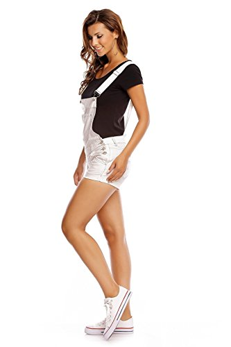 Bianco Salopette Fashion Donna Denim Lantis xfqOnv0T