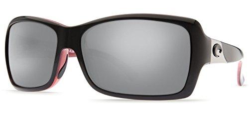 Costa Del Mar Sunglasses - Islamorada- Glass / Frame: Black and Coral Lens: Polarized Silver Mirror Wave 580 - Costa Sunglasses Islamorada