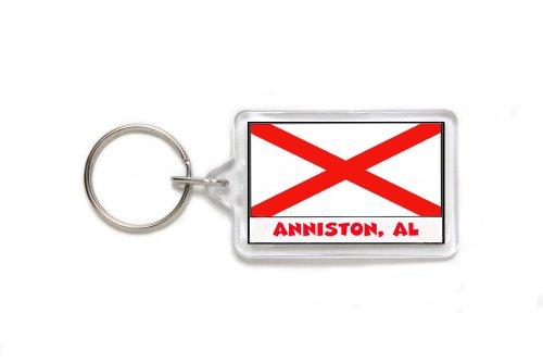 Anniston Alabama Souvenir Double Sided Acrylic Key Ring Medium Keyring Keychain Stocking Stuffer