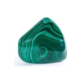 Malachite Tumbled Stone Gemstone Crystal Healing Rock Wiccan Supplies /Black velvet bag/ Info sheet by GYPSY PALACE