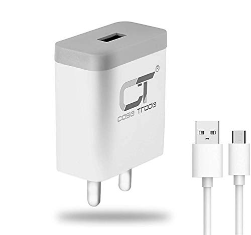 CaseTrade AD24 USB Fast Mobile Charger with Micro USB Cable 5V 2.4A for Android and iPhone