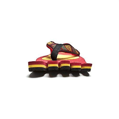 Churinga Flip-flops Plage Usure Pieds Style Collection Caoutchouc Matériel Pantoufles Rouge Taille Paire Rouge