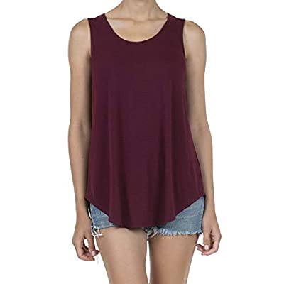 SHOP DORDOR Women's Soft Jersey Knit Scoop Neck Sleeveless Loose Tank Top at Women's Clothing store