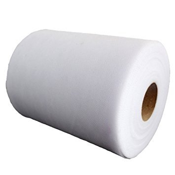 OneD 6 Inch x 100 Yards (300FT) Tulle Roll Spool Tutu Skirt Fabric Wedding Party Gift Bow Craft (White) - 100 Yard White Tulle