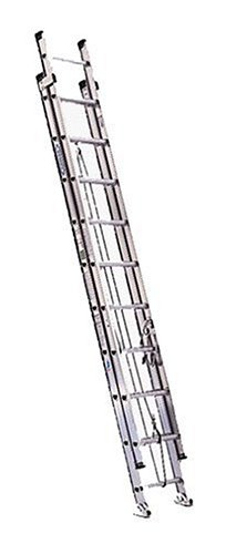 Werner D1532-2 300-Pound Duty Rating Aluminum Flat D-Rung Extension Ladder, 32-Foot by Werner