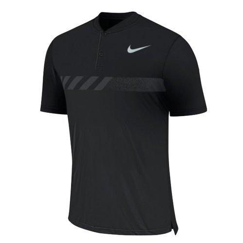 NIKE MM Fly Short Sleeve Print Golf Polo 2017 Black/Flat Silver Small - Mm Short Sleeves Knit