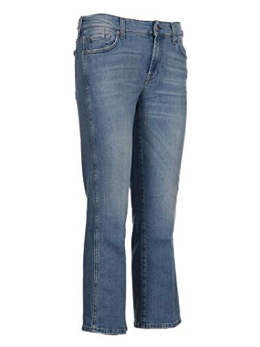 For Donna Syru120za 7 Cotone Azzurro All Jeans Mankind R4x4Uqw