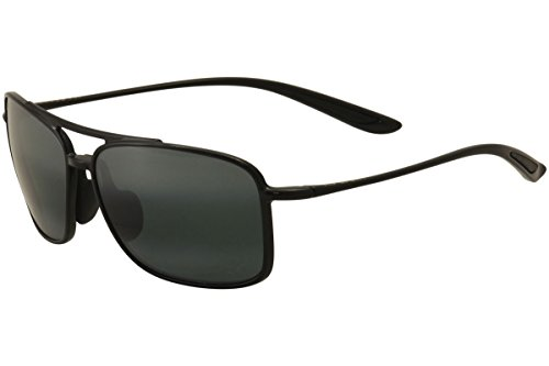 Maui Jim Unisex Kaupo Gap Gloss Black/Neutral Grey - Jim Sport Maui