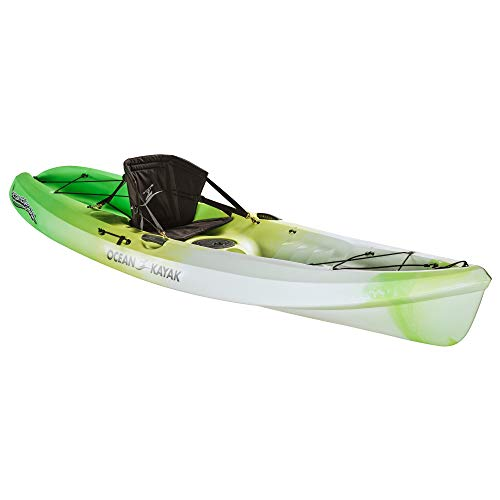 Ocean Kayak Scrambler 11 One-Person Sit-On-Top Recreational Kayak, Envy, 11 Feet 6 Inches