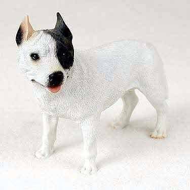 (Pit Bull Terrier Dog Figurine - White)