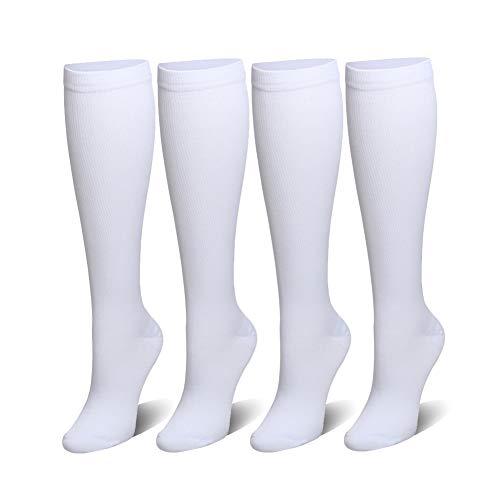 Compression Socks for Women and Men - 3/4 Packs 15-20 mmHg Compression Stocking Best for Running, Nurses, Shin Splints, Flight Travel Pregnancy