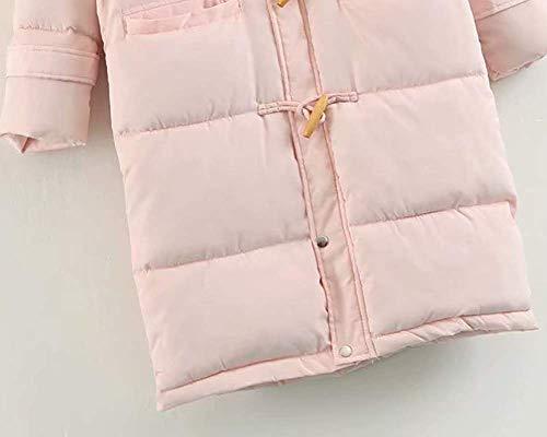 Blanc Long Taille M À Boucle Femme Rose coloré Épaissie Veste Hood Oudan 8xqvBzW