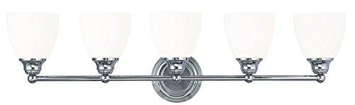 Livex Lighting 13665-05 Somerville 5-Light Bath Light, Chrome