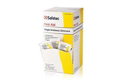 Safetec Antibiotic (Bacitracin) Ointment, .9 g. pouch 144 ct. box (12 boxes/case)