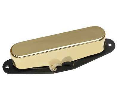 DiMarzio DP417G Area T Neck Tele Single Coil Pickup Gold w/Bonus RIS Picks (x3) 663593008626 (Hum Canceling Strat Pickup)