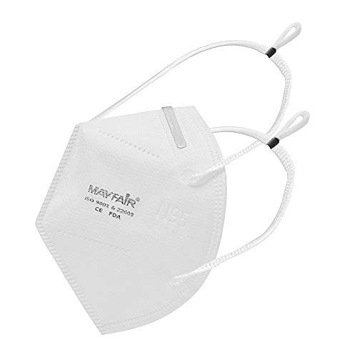 Mayfair N95 5 Layer with Nose Pin, Made in India (Headband Mask, Item Quantity 5)